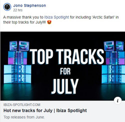 Jono Stephenson - Top Tracks for July