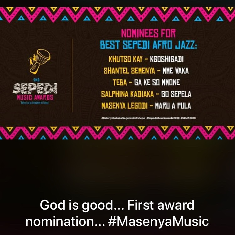 Masenya Lagodi Jazz Award Nomination