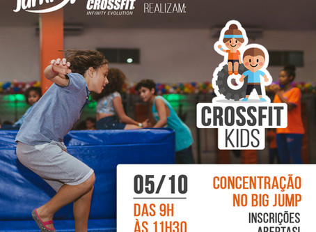"""Big Jump e Go Crossfit realizam """"Crossfit Kids"""" em outubro"""