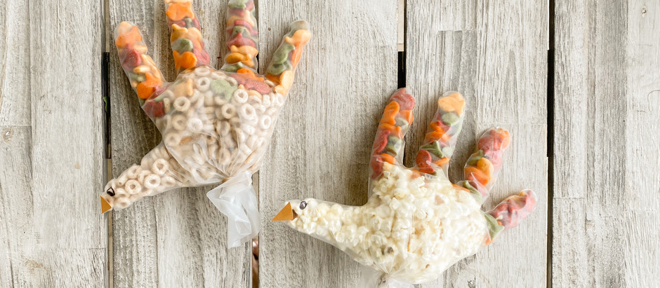 Kid's Thanksgiving Turkey Snack Bags