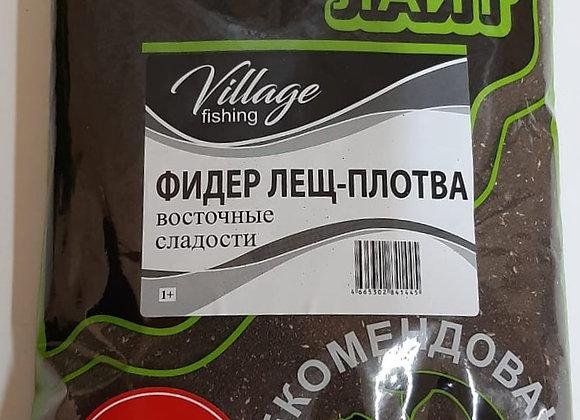 Прикормка Лайт PLUS Фидер Лещ-Плотва Восточные сладости 0,9кг.