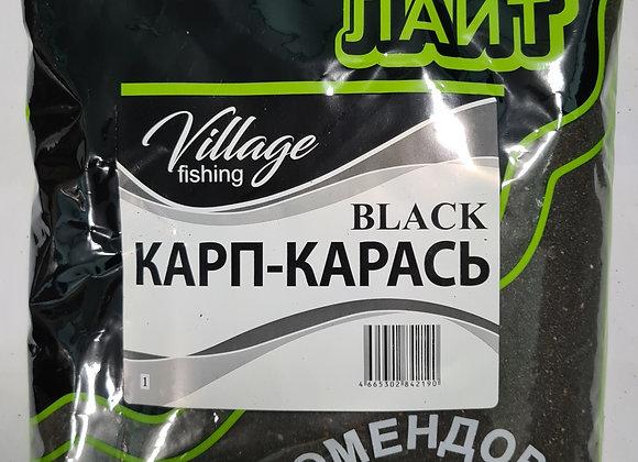 Прикормка Лайт Black Карп-карась (клубника) 0,9кг.