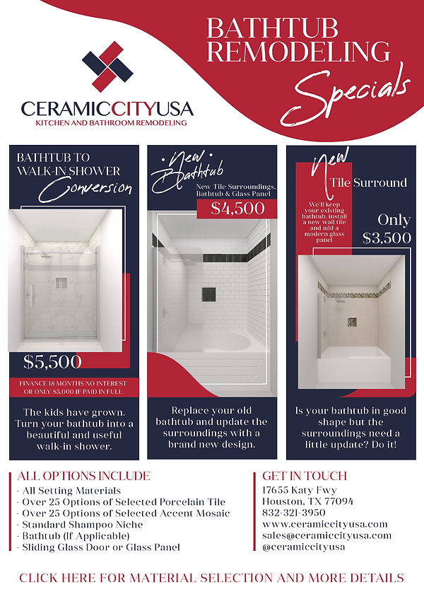 Bathtub Remodeling Specials