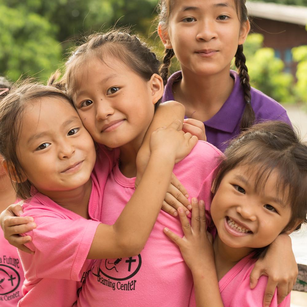 School girls in Thailand.