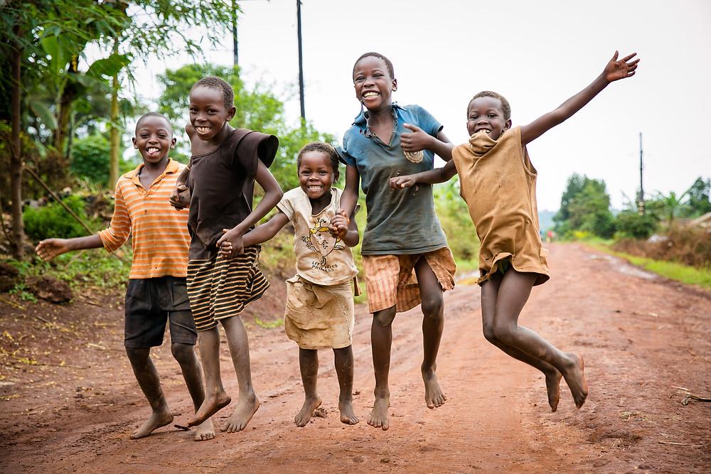 School children in Uganda, Africa.