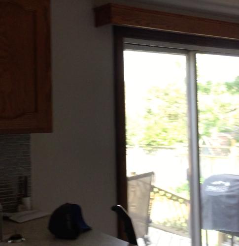 sink and patio doors
