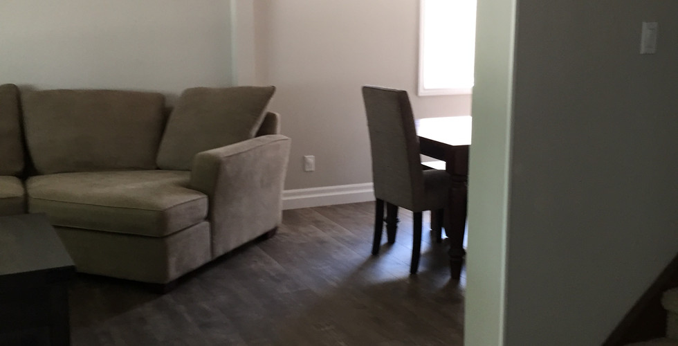 Living room and opening to dining area