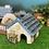 Thumbnail: お花がたくさん青い屋根のシェルター☆