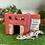 Thumbnail: 赤い2階建てのお家☆階段付きウェットシェルター