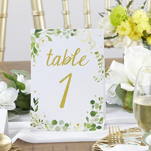 Botanical Garden Wedding Table Numbers
