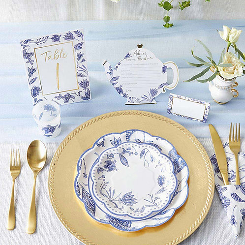 Blue Willow Wedding Table Numbers