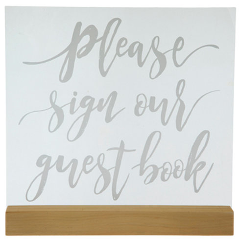 Please Sign Our Guest Book Acrylic Sign