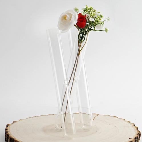 Clear Test Tube Vases