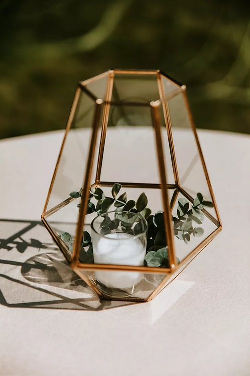 Gold Geometric Centerpieces