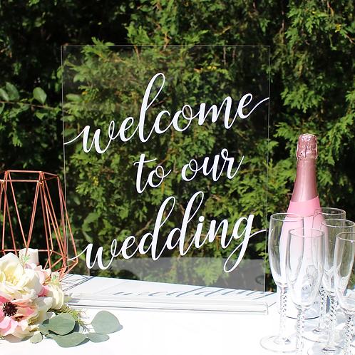 Script Wedding Signs