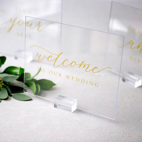 Gold Acrylic Signs