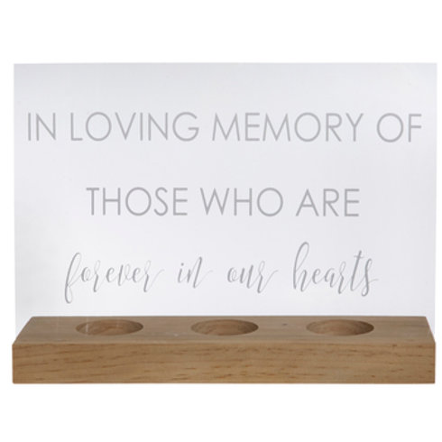 In Loving Memory Acrylic Sign