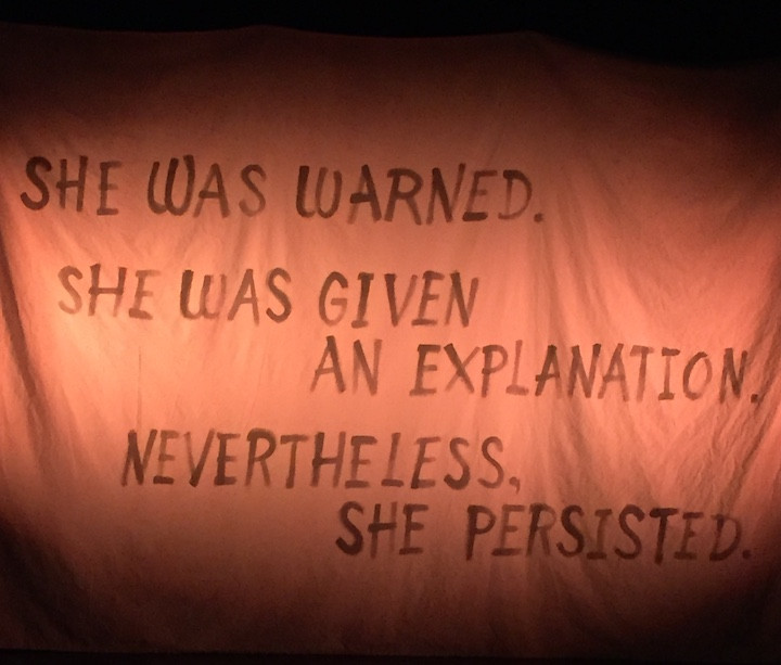 She was warned. She was given an explanation. Nevertheless, she persisted.