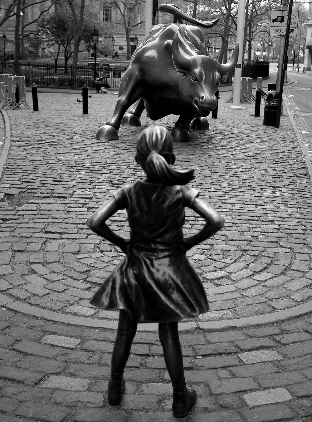 Fearless Girl. Photo by Paul Bilodeau.