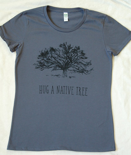 Hug A Native Tree - Women's - Pacific Blue