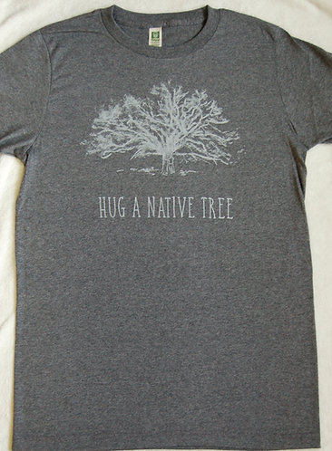 Hug A Native Tree - Charcoal
