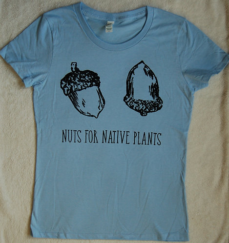 Nuts For Native Plants - Women's - Heaven Blue