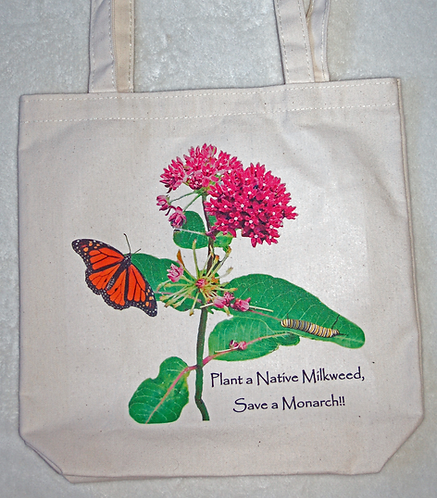 Purple Milkweed Tote - Plant a Native Milkweed, Save a Monarch!!