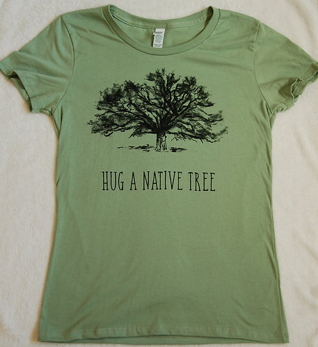 Hug A Native Tree - Women's - Avocado Green