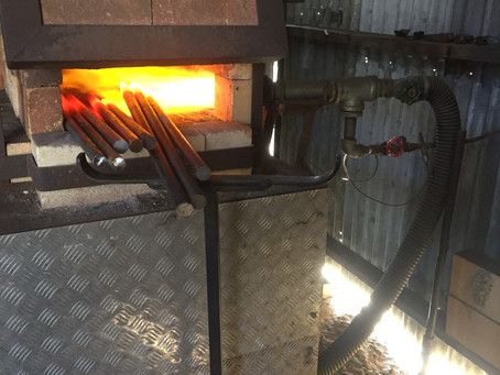 Blacksmithing the curls