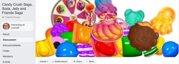 Facebook Group fo Candy Crush