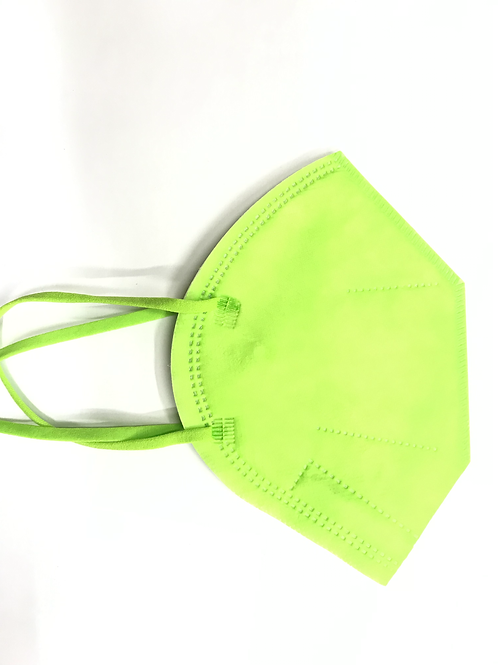 Protection face mask FFP2 green colour 25 pcs