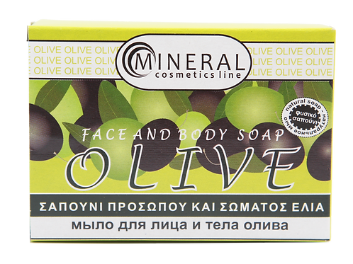 Face and body soap olive by Mineral Cosmetics 1+1 δώρο
