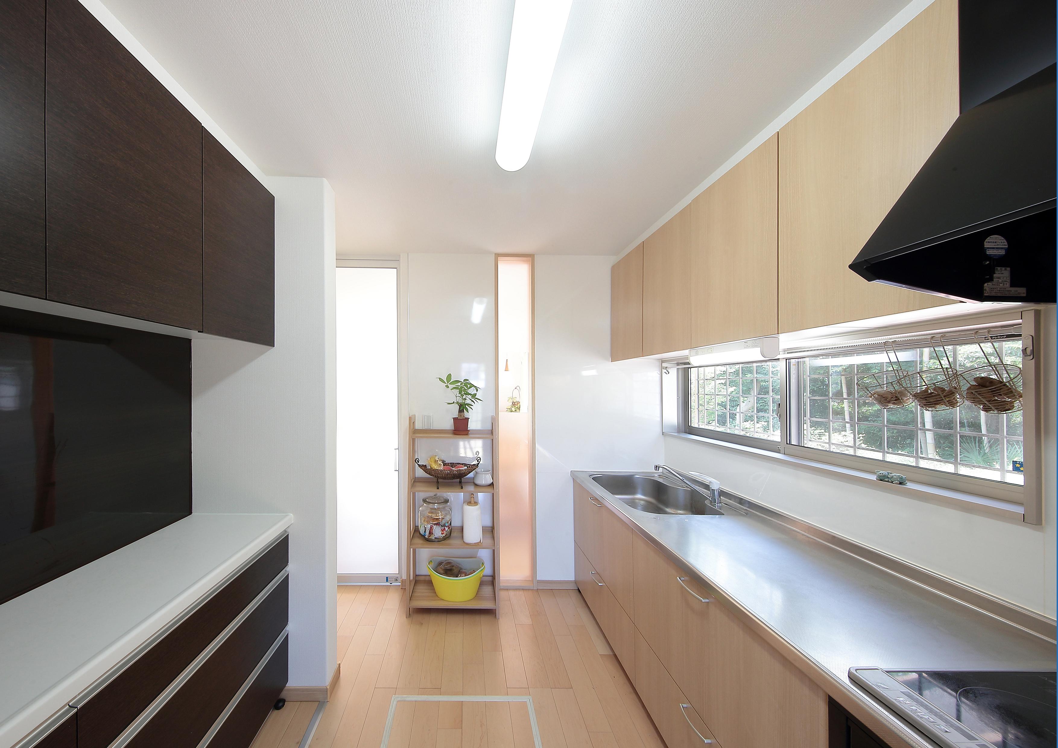 広々間口のキッチン