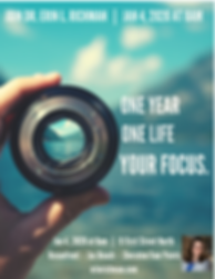 one year one life your focus 2020