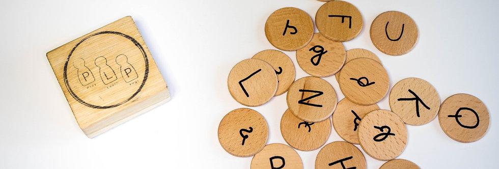 Wooden Alpha Disks