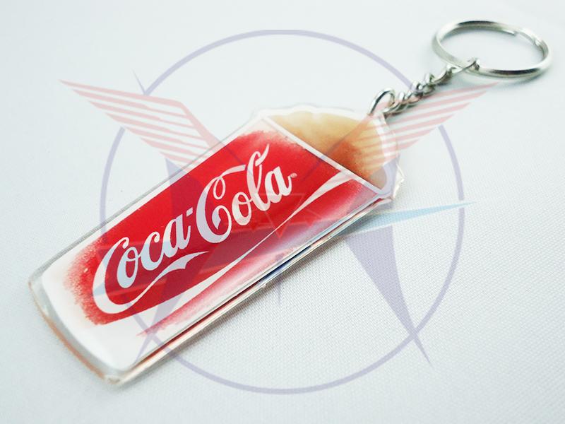 Móc khóa nhựa dẻo coca cola