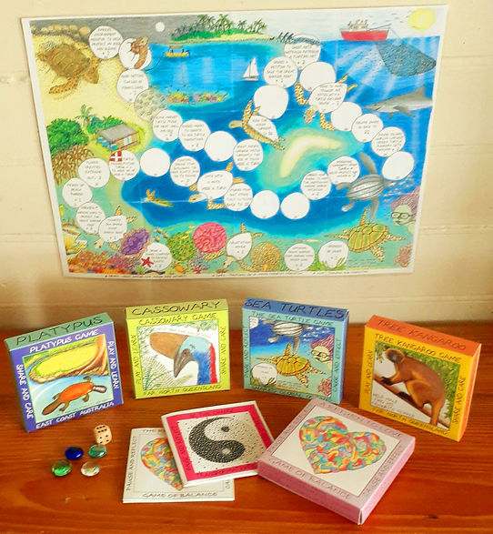 Games, Sea Turtle, Cassowary, Platypus, Tree Kangaroo, Return to Love and Be the Change.jp