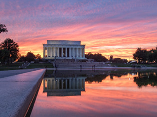 Lincoln Sunset Reflection