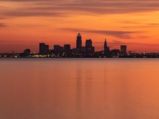 Fiery Cleveland Sunrise
