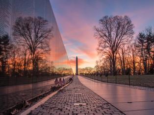 Vietnam Memorial Sunrise