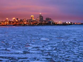 Cleveland Icy Sunset