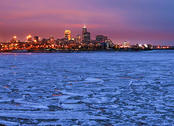 Cleveland Icy Sunset