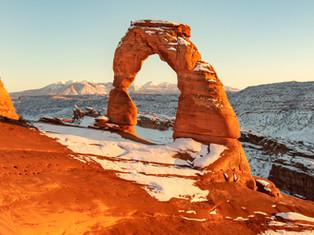 Arches Winter Sun
