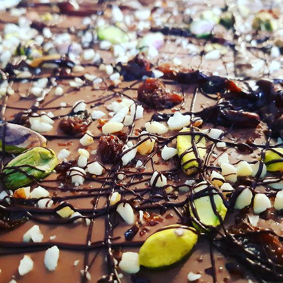 Nutty Salt & Pepper Chunky Milk Chocolate Slab