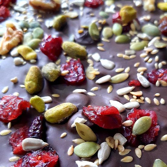 Omega Fruit, Nut & Seeds Vegan Dark Chocolate Slab