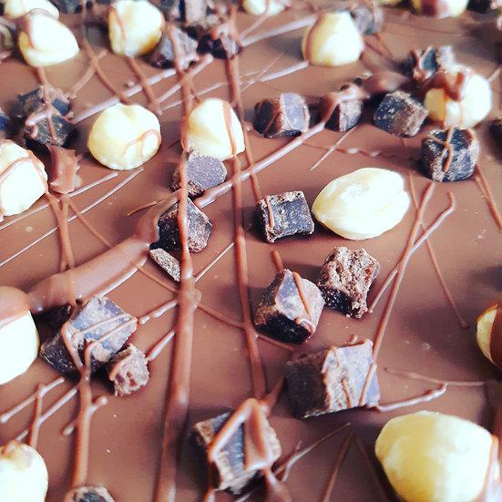 Brownie & Roasted Hazelnut Milk Chocolate Slab