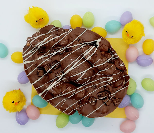Brownie Bunnies Solid Easter Egg Large