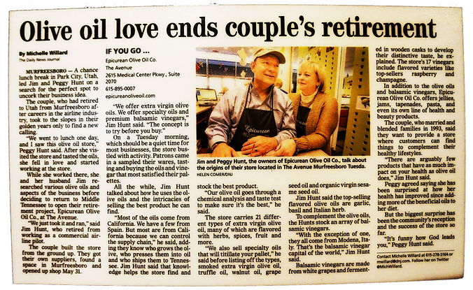 Olive oil love ends couple's retirement