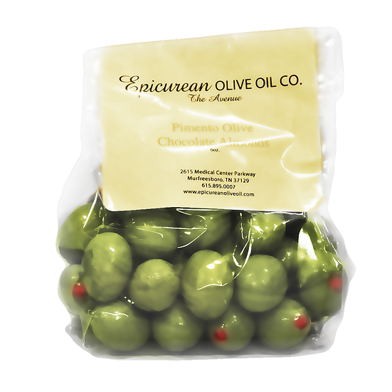 Pimento Olive Chocolate Almonds