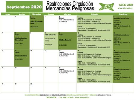 Calendario ADR Septiembre